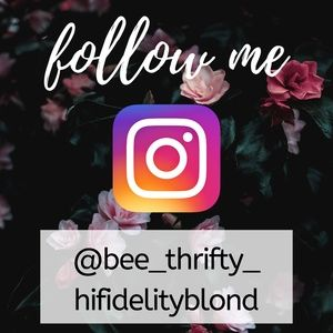 Other - FOLLOW ME ON INSTA @bee_thrifty_hifidelityblond